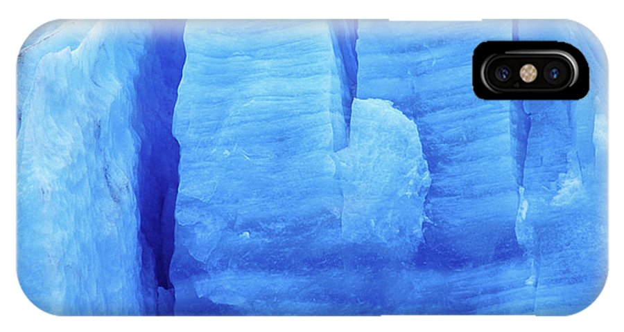 Glacier IPhone X Case featuring the photograph Ice Formations by James Brunker