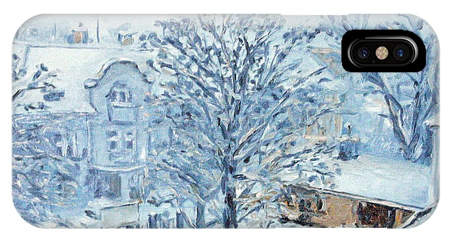 Landscape IPhone Case featuring the painting Ice White by Pablo de Choros