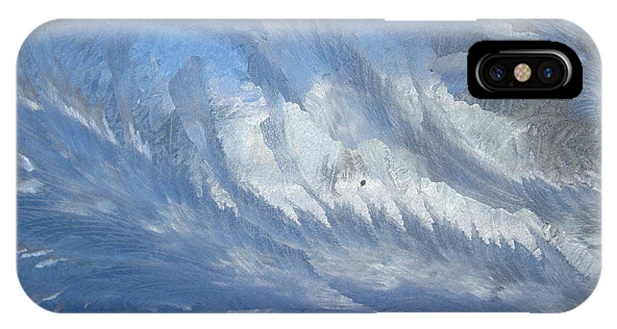 Ice IPhone X Case featuring the photograph Icescapes 1 by Rhonda Barrett