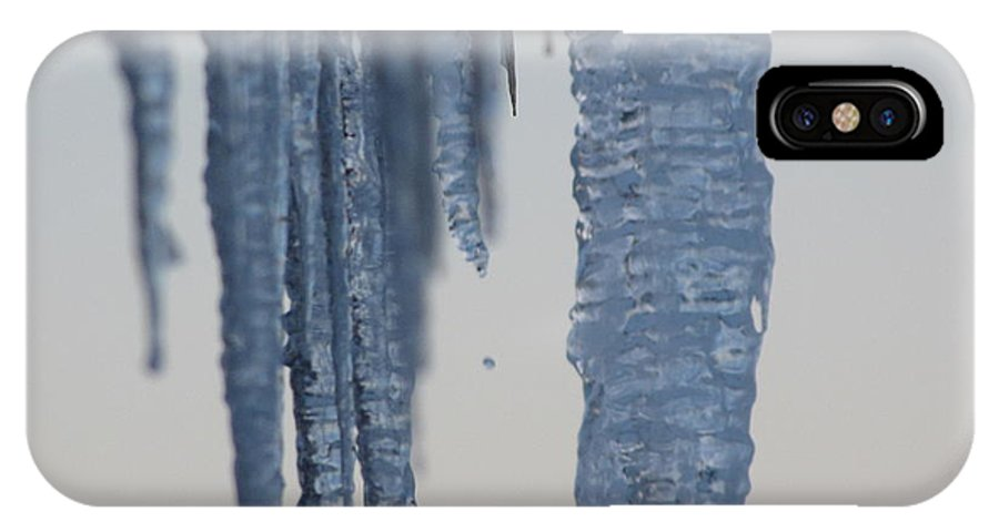 Icicles IPhone X Case featuring the photograph Icicles 2 by Melissa Parks