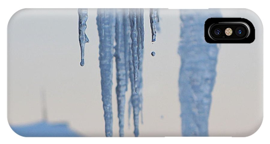 Icicles IPhone X Case featuring the photograph Icicles 3 by Melissa Parks