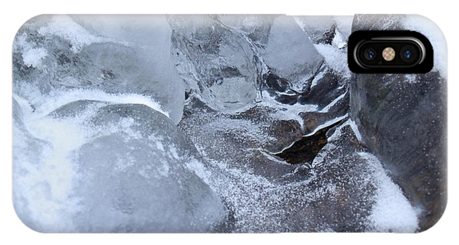 Snow IPhone Case featuring the photograph Icy Creek Forms In Pocono Mountains by Anna Lisa Yoder