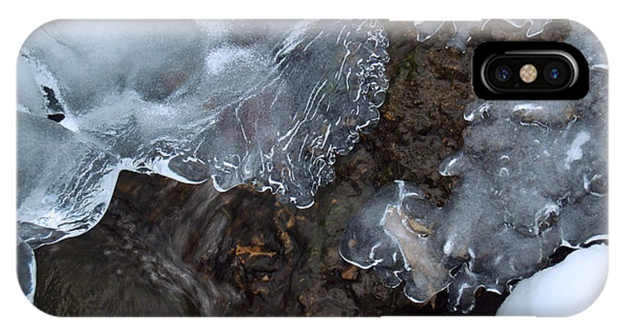 Snow IPhone X Case featuring the photograph Icy Creek In Pocono Mountains by Anna Lisa Yoder