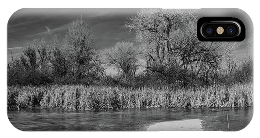 Landscape IPhone X Case featuring the photograph Icy Marsh by James Redland Anderson