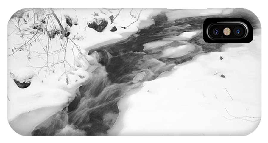 Stream IPhone X Case featuring the photograph Icy Swath by Alice Mainville