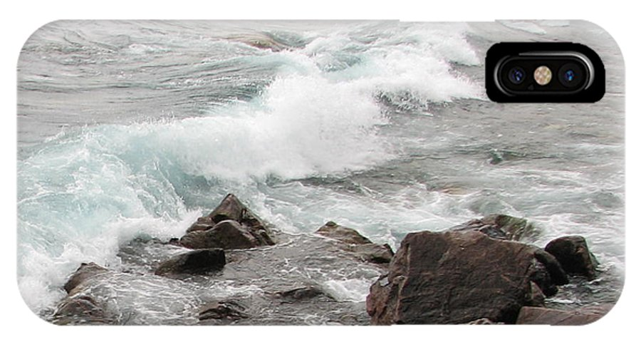 Wave IPhone Case featuring the photograph Icy Waves by Kelly Mezzapelle