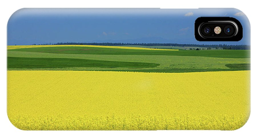 Yellow IPhone X Case featuring the photograph Idaho Field by Johnny Adolphson