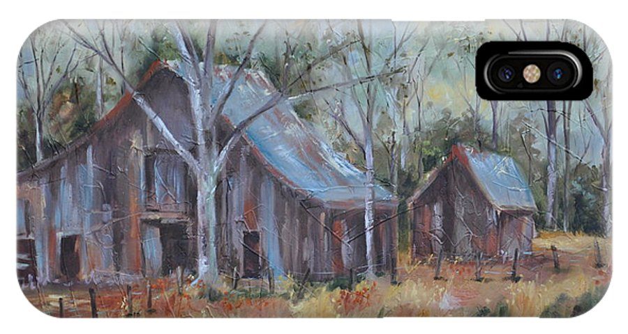 Barns IPhone X Case featuring the painting If They Could Speak by Ginger Concepcion