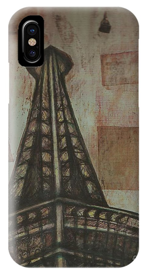 Structures IPhone Case featuring the painting Iffel Tower by Sidra Myers