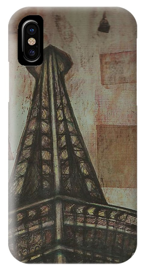 Structures IPhone X Case featuring the painting Iffel Tower by Sidra Myers