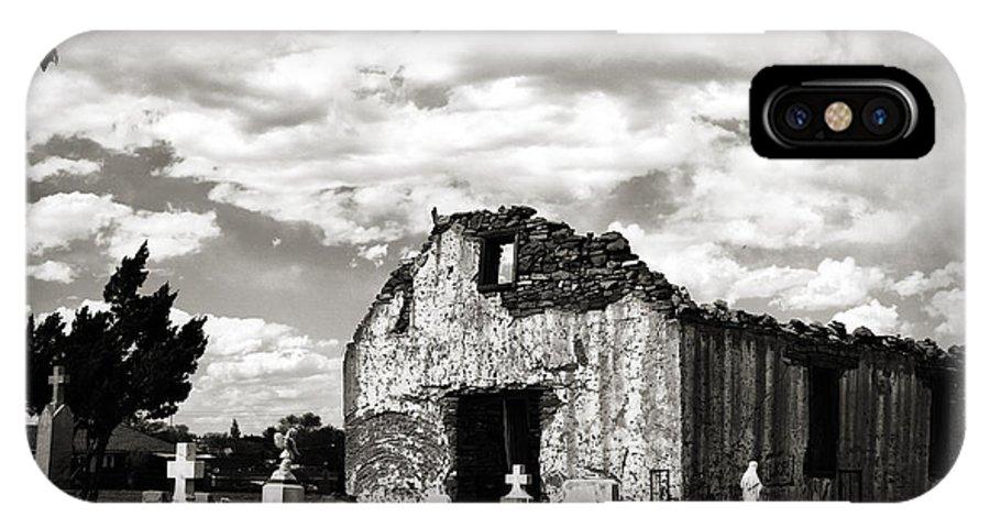 Georgia Artist IPhone X Case featuring the photograph Iglesia Cementerio by Patricia Montgomery