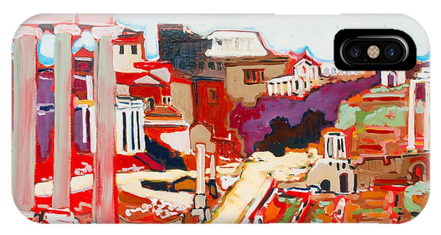 Rome IPhone Case featuring the painting Il Foro Romano by Kurt Hausmann