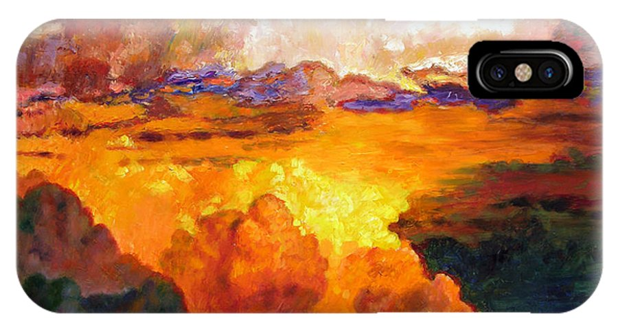 Clouds IPhone Case featuring the painting Ill Fly Away O Glory by John Lautermilch