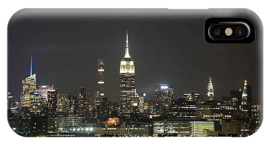 Manhattan IPhone X Case featuring the photograph I'll Have A Manhattan To Go by Red Cross