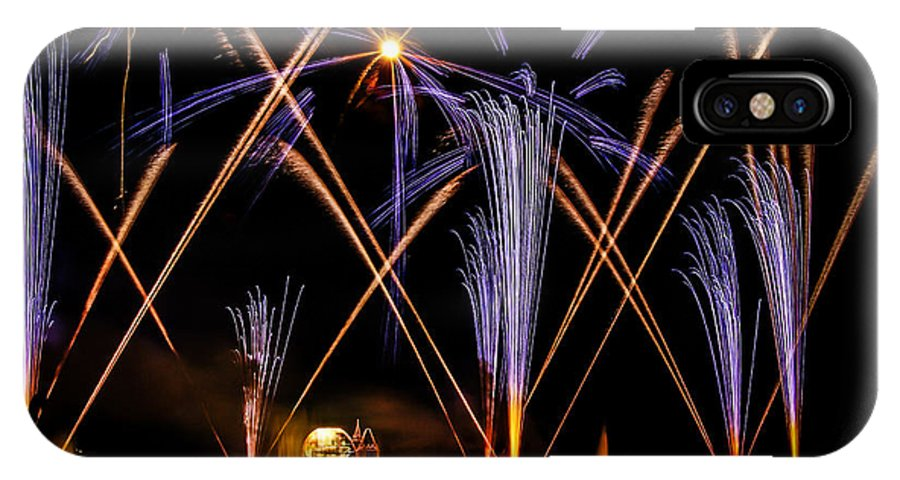 Epcot IPhone X Case featuring the photograph Illuminations by Jason Baldwin - Shared Perspectives Photography