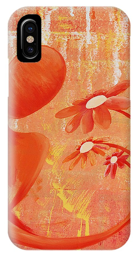 Illusion IPhone X Case featuring the painting Illusion Rainbow Soul Collection by Catt Kyriacou