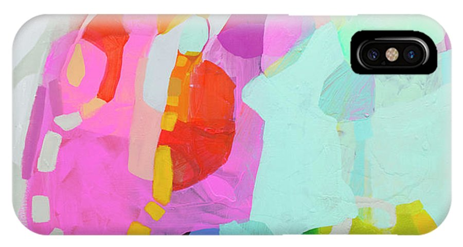 Abstract IPhone X Case featuring the painting I'm So Glad by Claire Desjardins