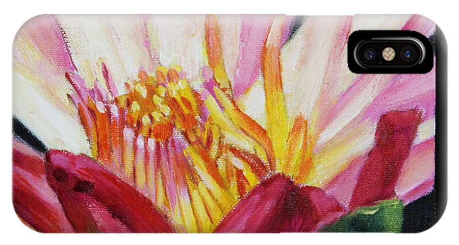 Water Lily IPhone X Case featuring the painting Image Number Ten by John Lautermilch