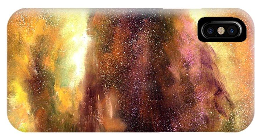 Celestial IPhone X Case featuring the painting Images From The Heavens by Sally Seago