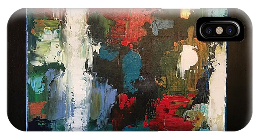 Fine Art Abstract IPhone X Case featuring the painting Imagination by Michael Walters