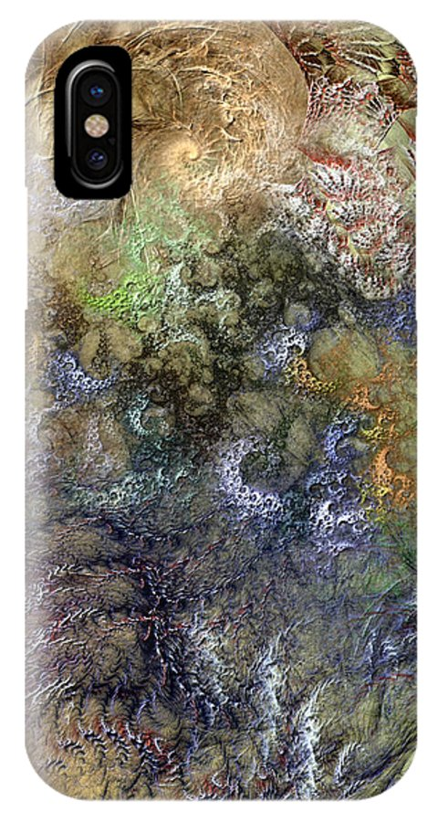 Abstract IPhone X Case featuring the digital art Imperialistic Miasma by Casey Kotas
