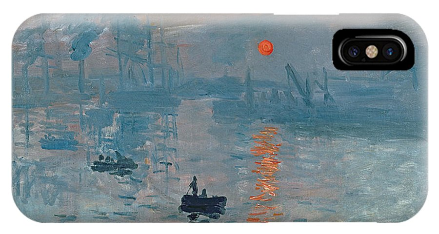 Impression IPhone X Case featuring the painting Impression Sunrise by Claude Monet
