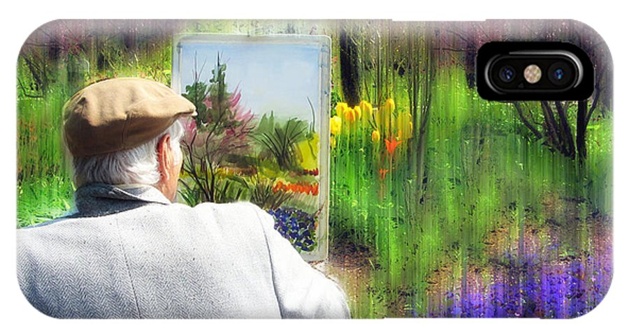 Artist IPhone X Case featuring the photograph Impressionist Painter by Jessica Jenney