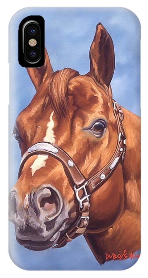 Quarter Horse IPhone X Case featuring the painting Impressive by Howard Dubois