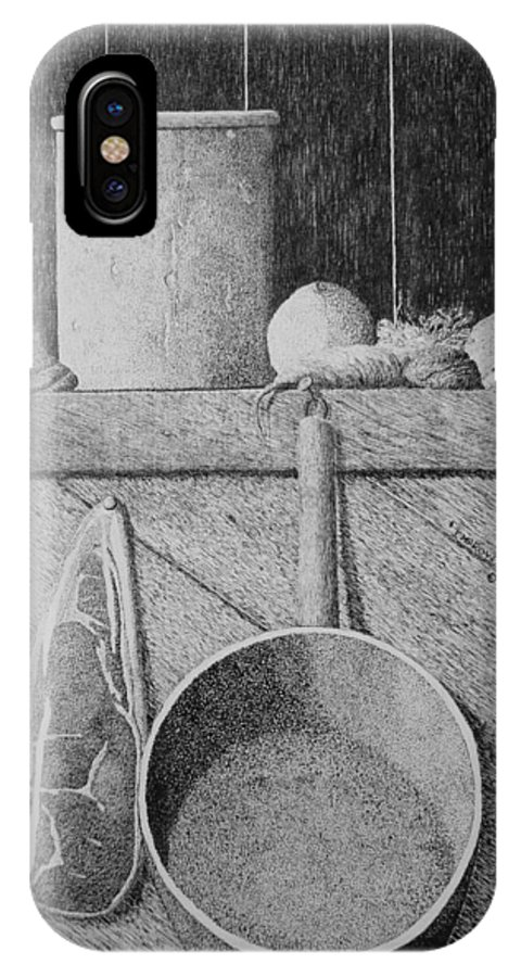 Still Life IPhone X Case featuring the painting Improvisation by A Robert Malcom