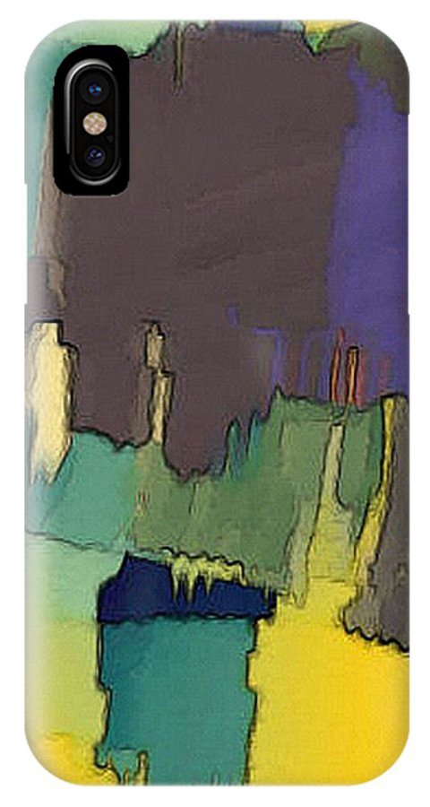 Digital IPhone Case featuring the digital art In Der Wueste by Ilona Burchard