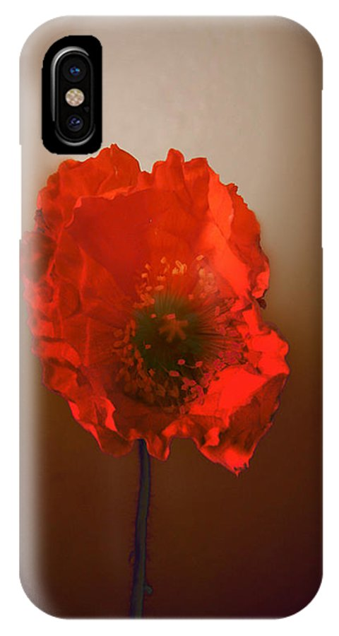 Poppy IPhone X Case featuring the photograph In Flanders Fields by Bobbie Barth