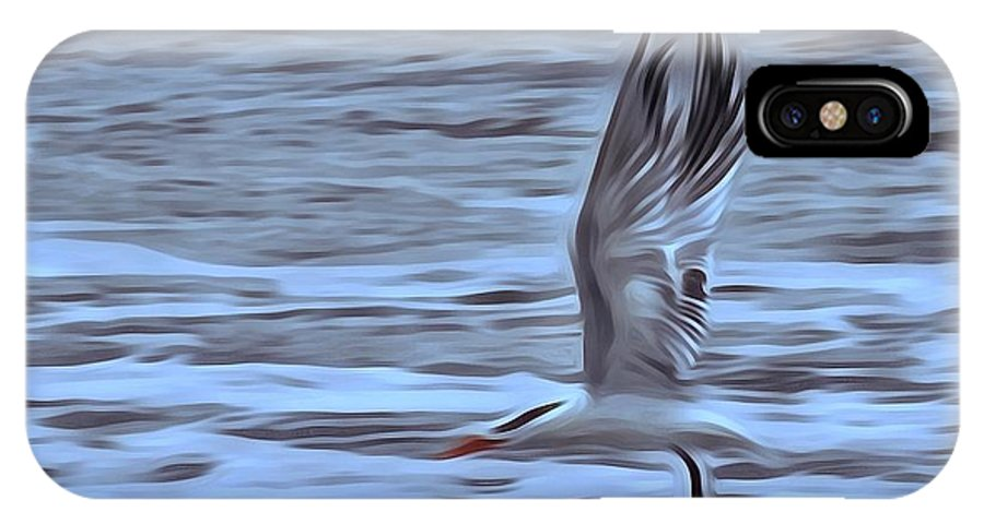 Seagull IPhone X Case featuring the photograph In Flight by Patricia Black