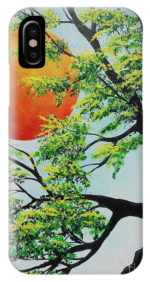 Harvest Moon IPhone X Case featuring the painting In His Time by Dan Whittemore