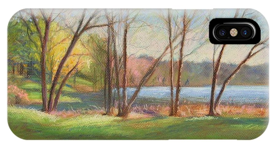 Mcgrath IPhone Case featuring the painting In Just Spring At Plug by Leslie Alfred McGrath