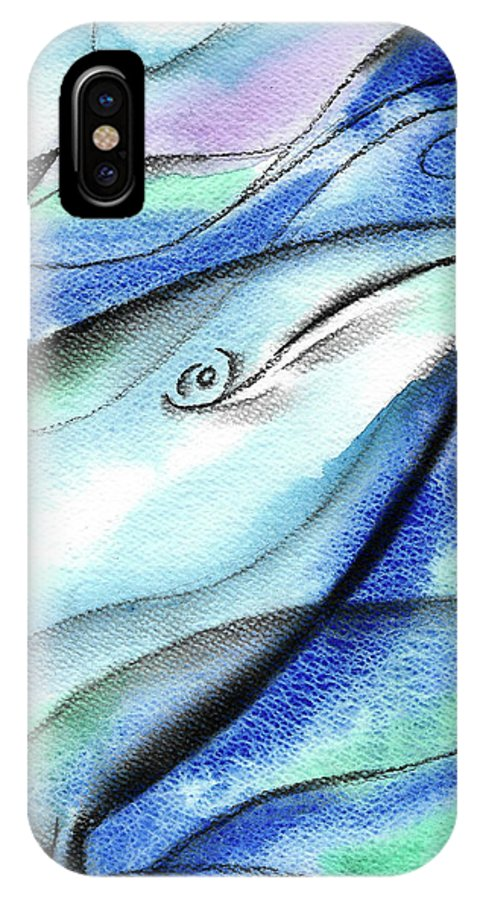 Animal Whale Fish Sea IPhone X Case featuring the painting In The Deep by Leon Zernitsky