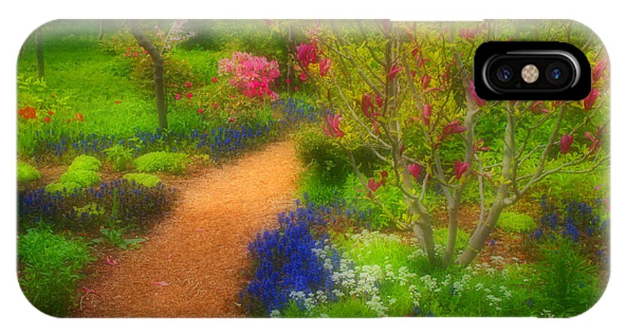 Trees IPhone X Case featuring the photograph In The Gardens by Tara Turner
