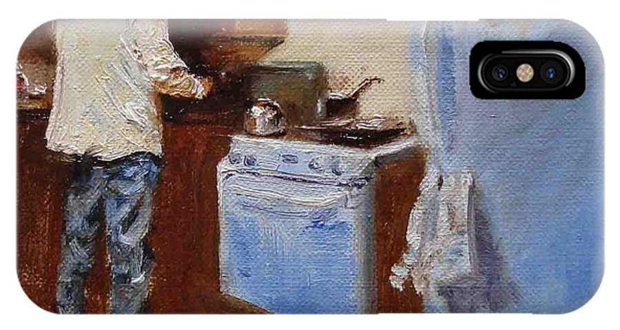 Cooking IPhone Case featuring the painting In The Kitchen by Barbara Andolsek