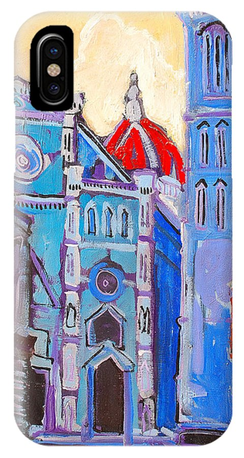 Florence IPhone Case featuring the painting In The Middle Of by Kurt Hausmann