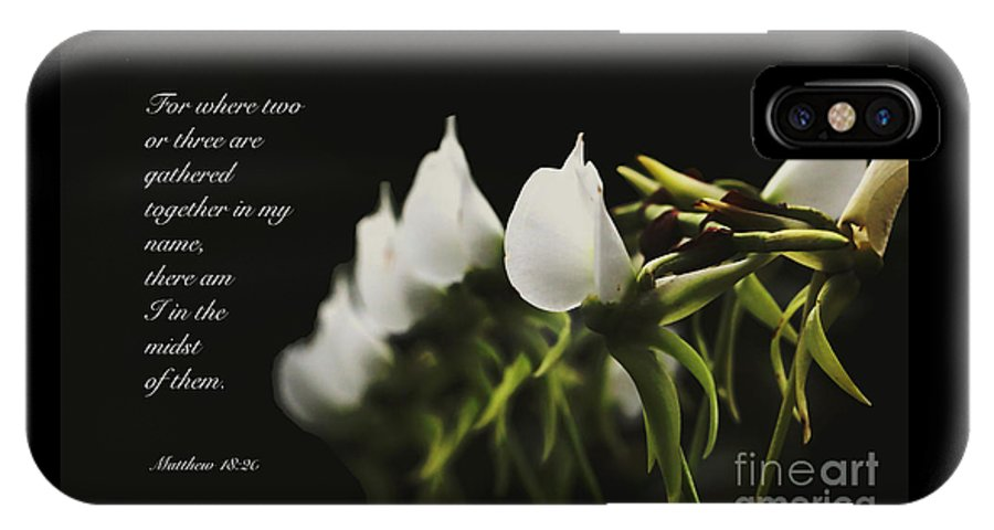 Floral IPhone X / XS Case featuring the photograph In The Midst by Debbie Nobile