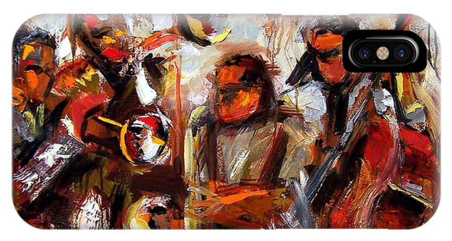 Jazz Art IPhone Case featuring the painting In The Moment by Debra Hurd