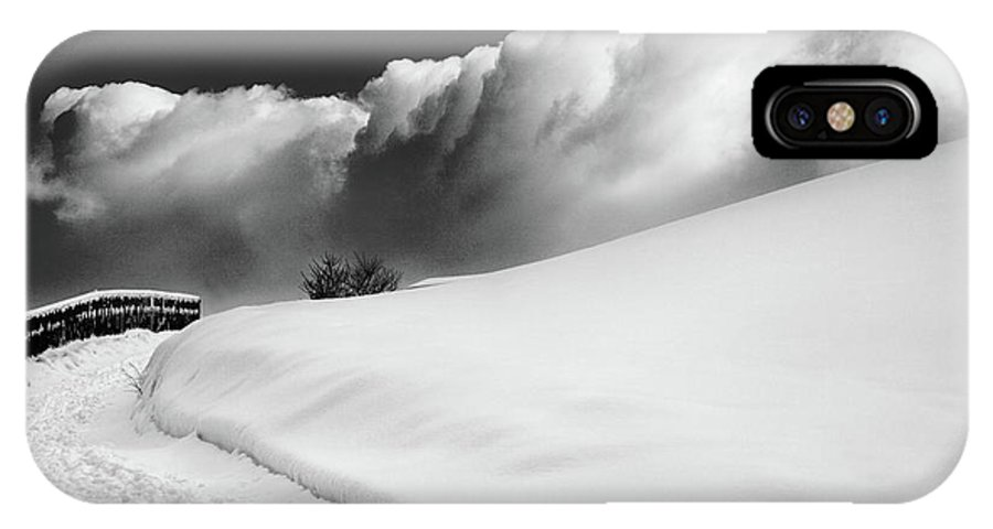 Bw IPhone X Case featuring the photograph in the Ore Mountains by Dorit Fuhg