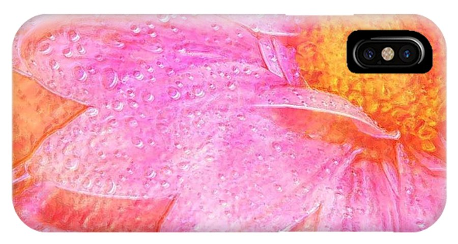 Flower Pink Digital Painting Art Design Macro Bubbles IPhone Case featuring the photograph In The Pink by Linda Sannuti