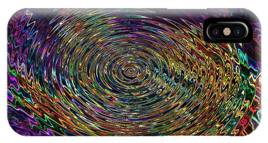 Abstract IPhone X Case featuring the digital art In The Whirl Of Light by Iliyan Bozhanov