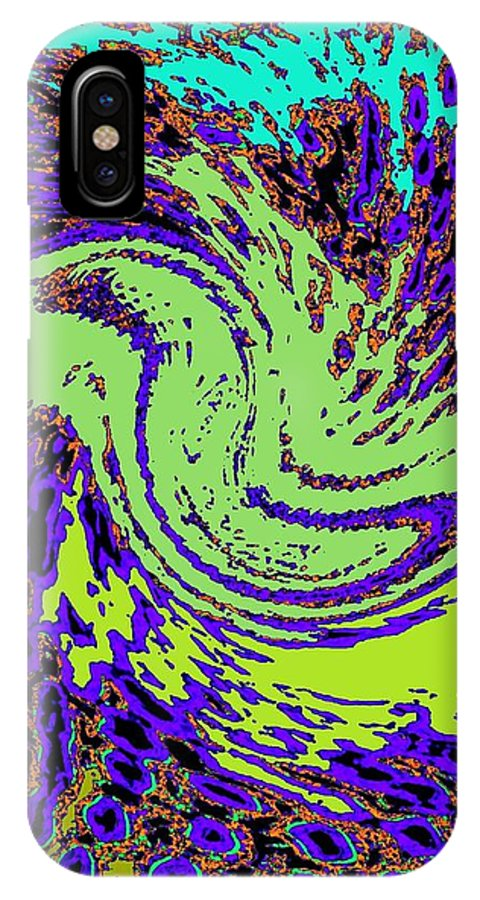 Coral Reefs IPhone X Case featuring the digital art In Transition by Will Borden