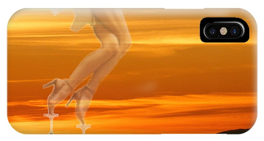 Erotic IPhone X Case featuring the photograph In Venus Veritas by Viktor Savchenko