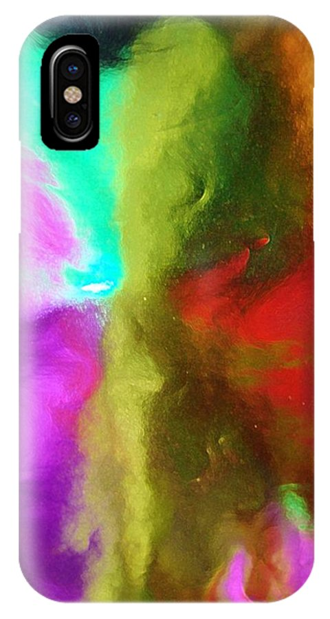 Abstract IPhone X Case featuring the digital art In Your Dreams by Florene Welebny