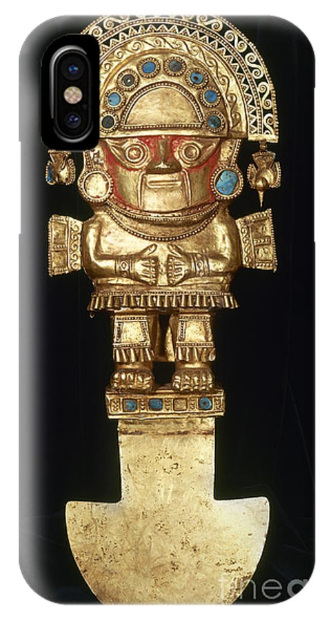 Ancient IPhone X Case featuring the photograph Incan Gold Ornament by Granger