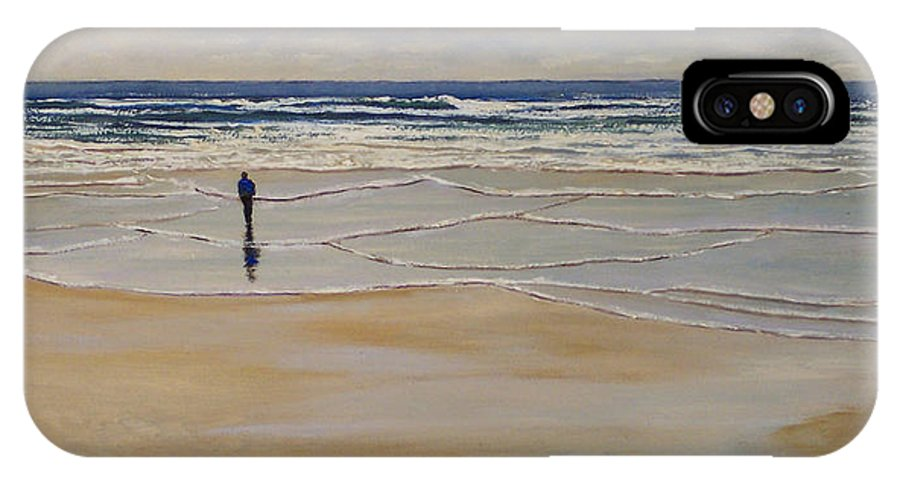 Beach Walk IPhone X Case featuring the painting Incoming Tide by Frank Wilson