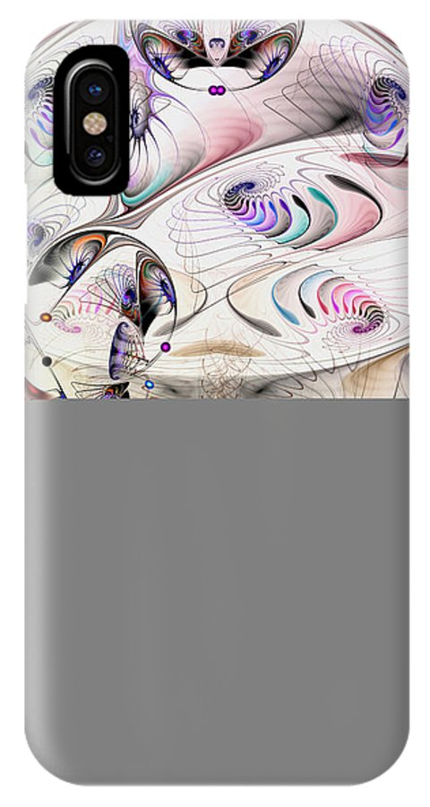 Abstract IPhone X Case featuring the digital art Inconceivable by Casey Kotas