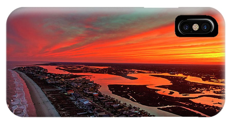 Sunset IPhone X Case featuring the photograph Incredible Point Sunset by Robbie Bischoff